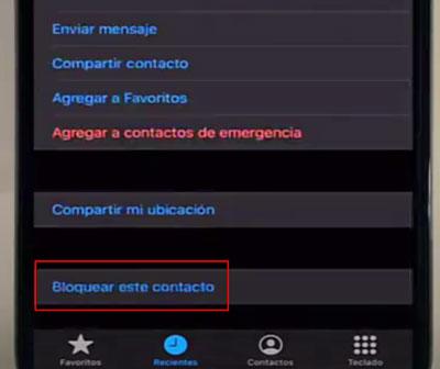 Blocca un numero di telefono su un cellulare iPhone